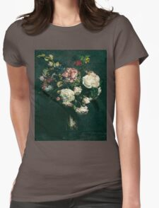 Henri Fantin-Latour - Vase of Flowers . Flowers , Bouquet of Flowers Womens Fitted T-Shirt