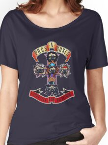 PUGS N' ROSES : APPETITE FOR EVERYTHING Women's Relaxed Fit T-Shirt
