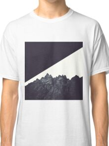 Modern Black and White Rock Art Classic T-Shirt