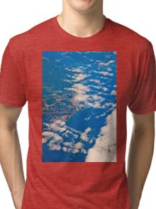 the view from the plane Tri-blend T-Shirt