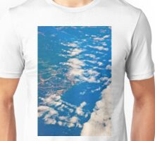 the view from the plane Unisex T-Shirt