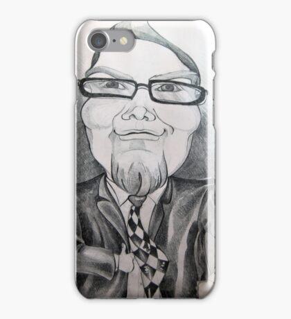 Man in suit caricature. iPhone Case/Skin