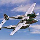 Lockheed P-38L Lightning 44-53254 N25Y by Colin Smedley