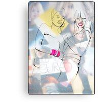 Fashion 3, A4, 2011, mixed technique Canvas Print
