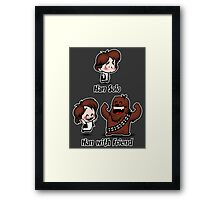 Han with Friend Framed Print