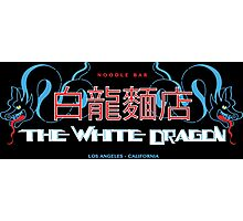 White Dragon - Noodle Bar Cantonese Version Photographic Print