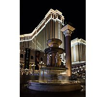A Night at the Venetian Las Vegas Photographic Print