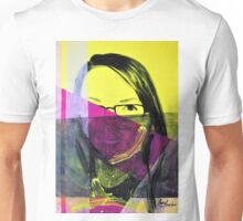 Portrait of girl in colors, 2011, 50-70cm, acryl on canvas Unisex T-Shirt