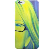 Portrait in glasses, 2011, 120-80cm, oil on canvas iPhone Case/Skin