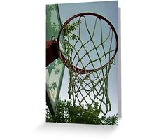 lets shoot some hoops Greeting Card