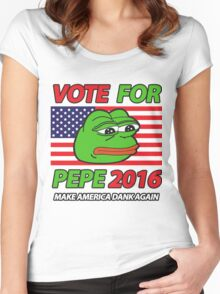 Vote Pepe Sad Frog 2016 Women's Fitted Scoop T-Shirt