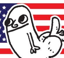 Dickbutt Bless America Sticker