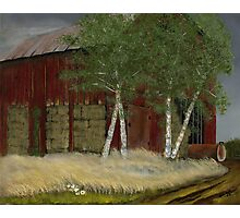 """Old Man Walker's Barn""... prints and products Photographic Print"