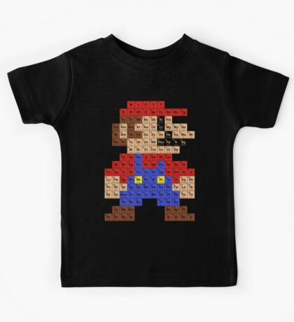 Periodic Mario Table Kids Tee