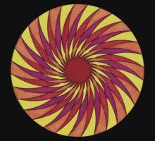 Geometric Grafic Color Cirkle Sun Baby Tee
