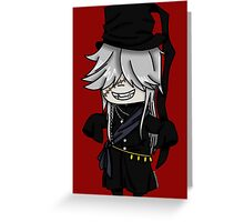 Grand Undertaker- Black Butler chibi Greeting Card