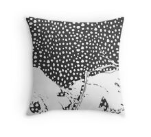 Modern Artistic Abstract Snow Scene Throw Pillow