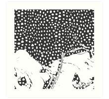 Modern Artistic Abstract Snow Scene Art Print