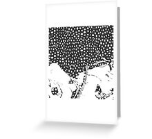 Modern Artistic Abstract Snow Scene Greeting Card
