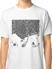 Modern Artistic Abstract Snow Scene Classic T-Shirt