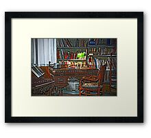 Still life interiors, Fabio's desk Framed Print