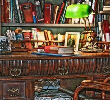 Still life interiors, Fabio's desk Sticker