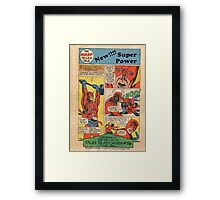 Launching my superpower Framed Print