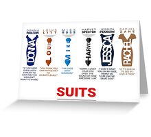 SUITS | DIALOGUE - SUITS FAMILY Greeting Card
