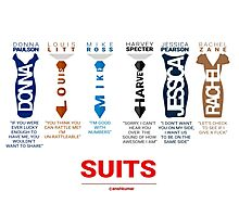 SUITS | DIALOGUE - SUITS FAMILY Photographic Print