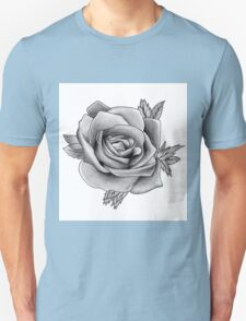 Black and White Watercolour Rose T-Shirt