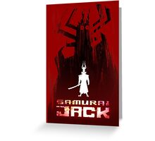 Samurai Jack is Back Greeting Card