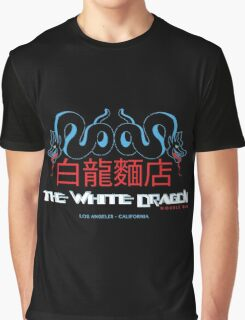 White Dragon - Noodle Bar Cantonese Variant Graphic T-Shirt