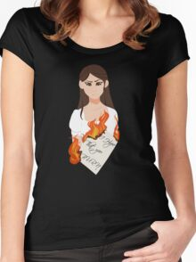 I Hope That You Burn Women's Fitted Scoop T-Shirt
