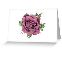 Alex Gaskarth Rose Tattoo Greeting Card