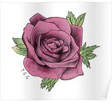Alex Gaskarth Rose Tattoo Poster