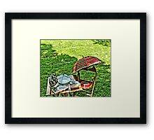 A Seat for a Lady Framed Print