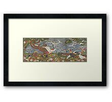 ITO Jakuchu - Animals in the Flower garden.  Japanese Landscape  Framed Print