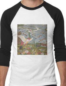 ITO Jakuchu - Animals in the Flower garden.  Japanese Landscape  Men's Baseball ¾ T-Shirt