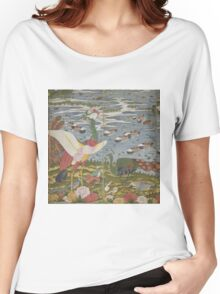 ITO Jakuchu - Animals in the Flower garden.  Japanese Landscape  Women's Relaxed Fit T-Shirt