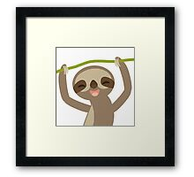 Smiling sloth Framed Print