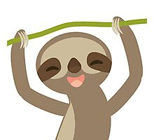 Smiling sloth Photographic Print