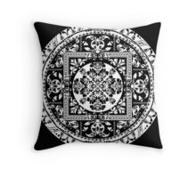 Circular beautiful pattern of traditional motifs Throw Pillow