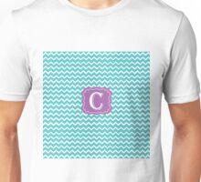 C Turquoise Chevron Unisex T-Shirt