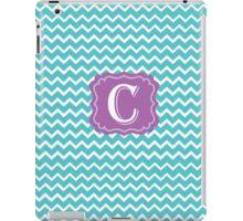 C Turquoise Chevron iPad Case/Skin