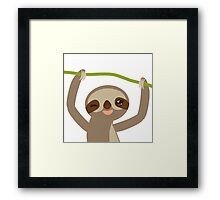 Winking sloth Framed Print