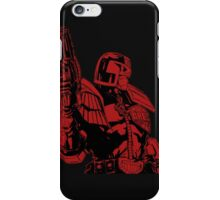 Red Dredd iPhone Case/Skin