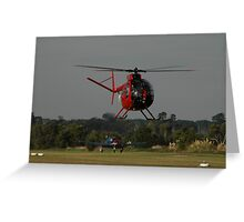 Hughes 500 VH-AUF,Tyabb Airshow,Australia 2010 Greeting Card
