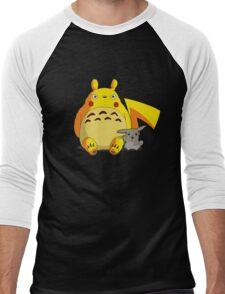 Totorotchu and Pikaro Men's Baseball ¾ T-Shirt