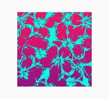 Tropical Neon Pink and Aqua Flower Pattern Classic T-Shirt