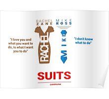 SUITS | DIALOGUE - MIKE - RACHEL Poster